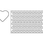 placca biscotti cuore piccoli